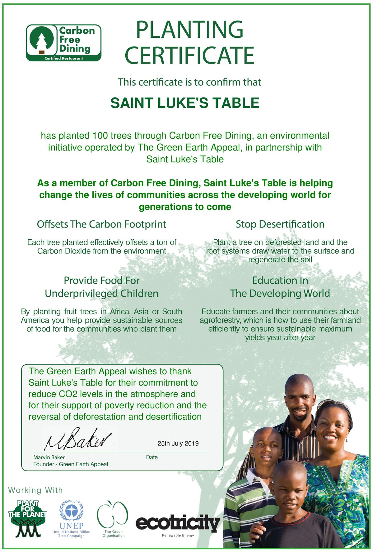 St. Luke's Table