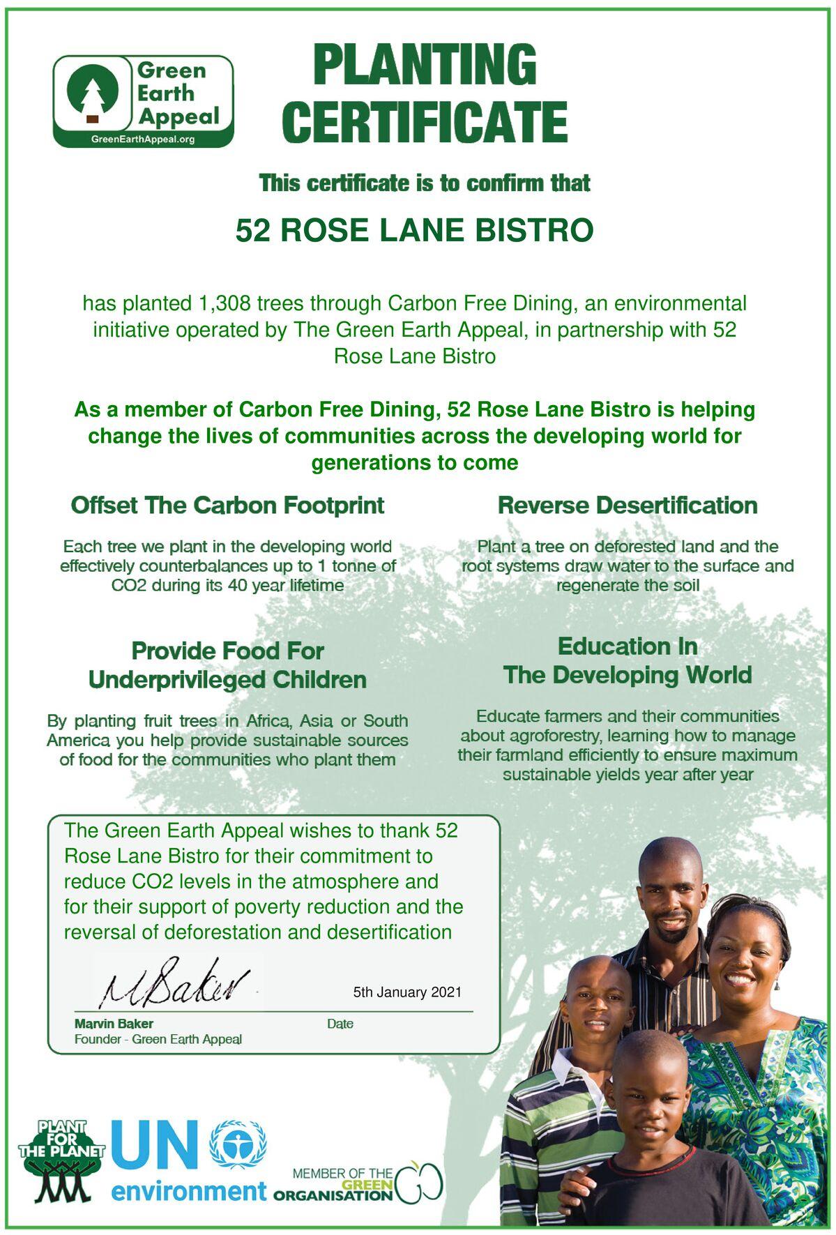 52 Rose Lane Bistro