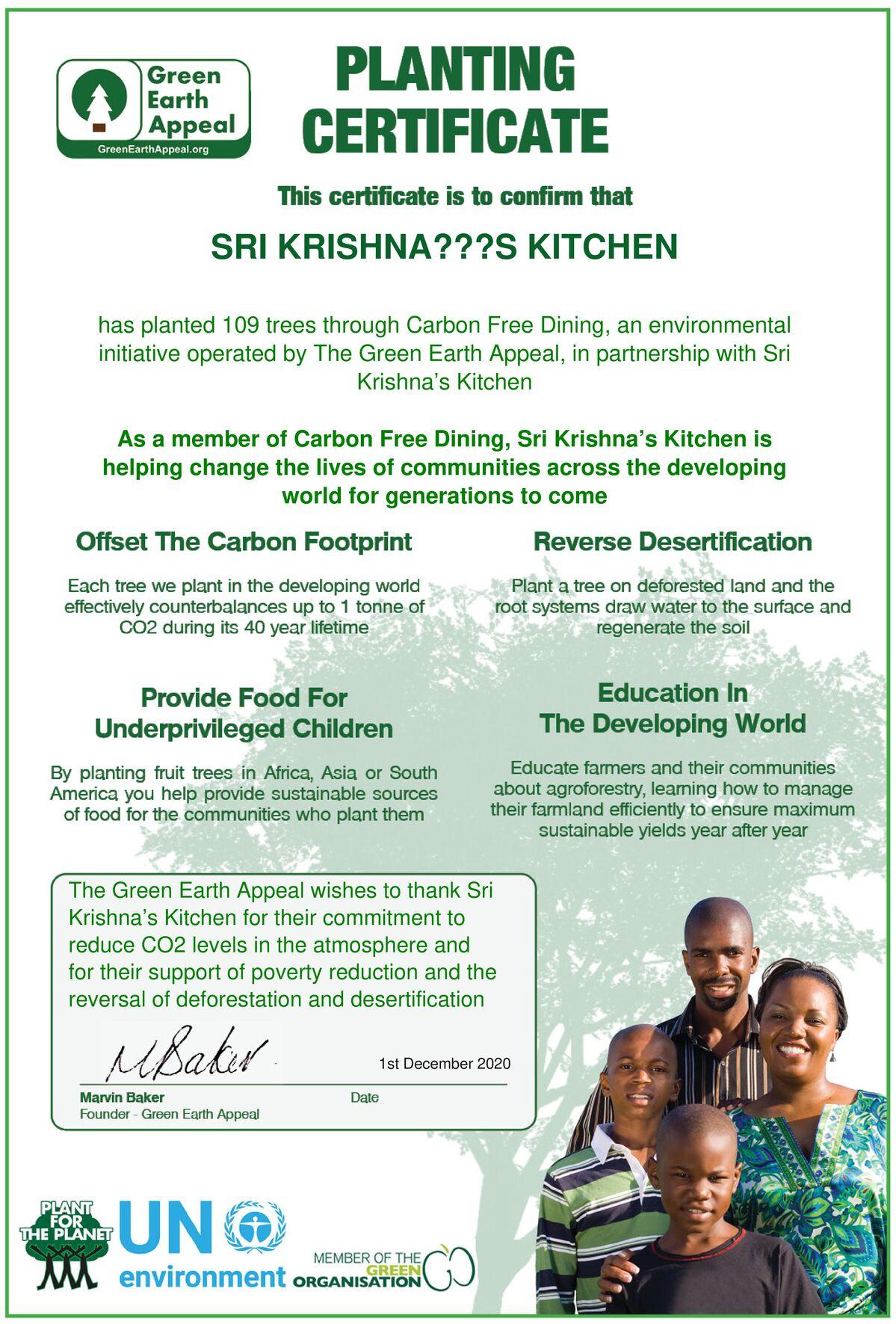 Sri Krishna's Kitchen