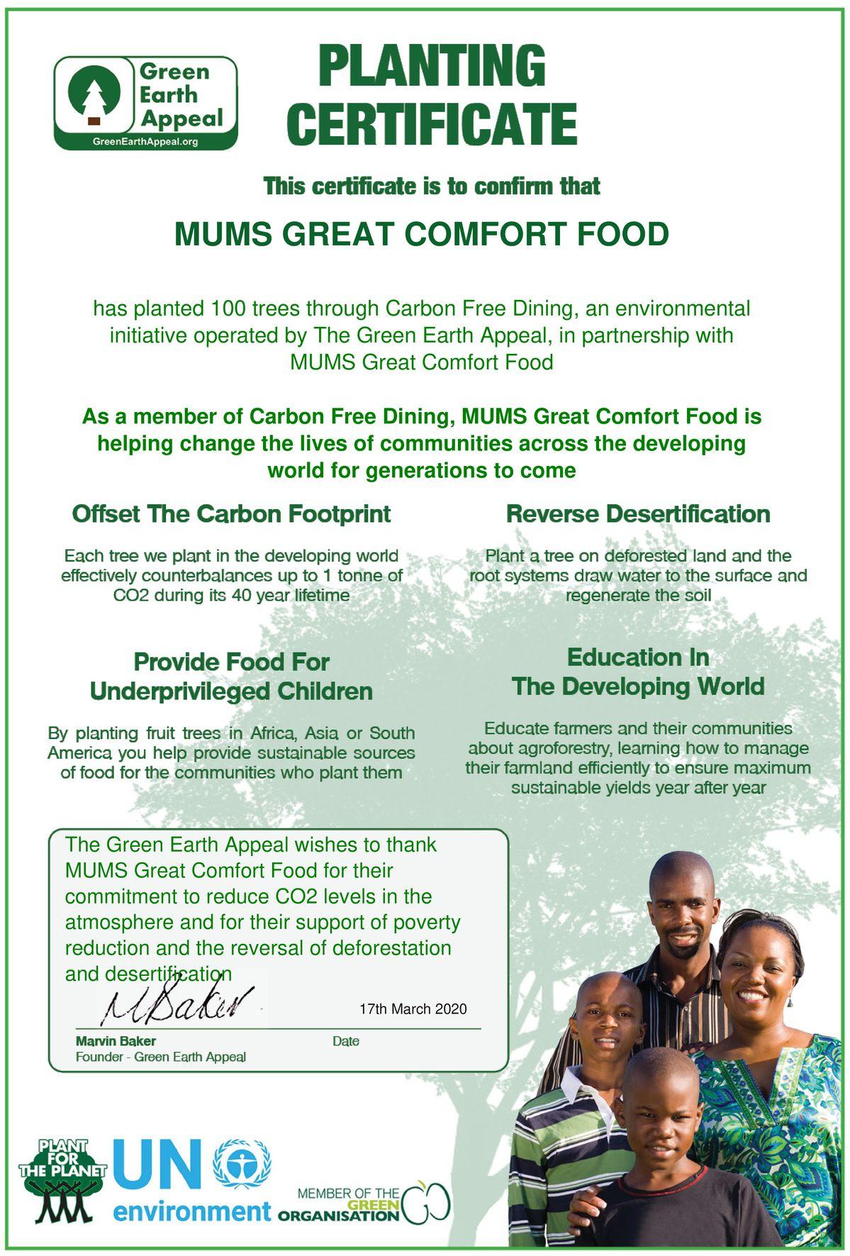 MUMS Great Comfort Food