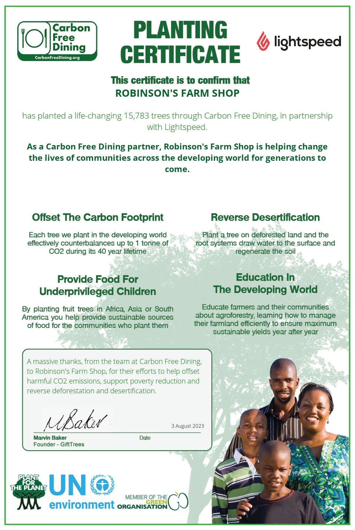 Robinson's boerderijwinkel